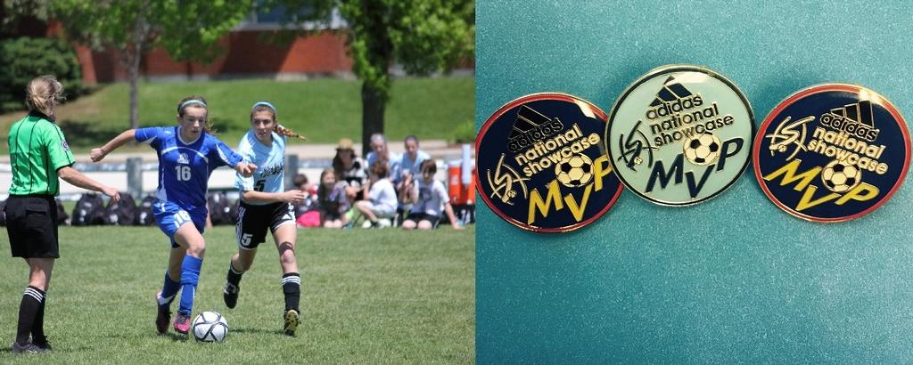 Congratulations to Alexis Horwedel for being named three time MVP at the Adidas National Soccer Showcase!